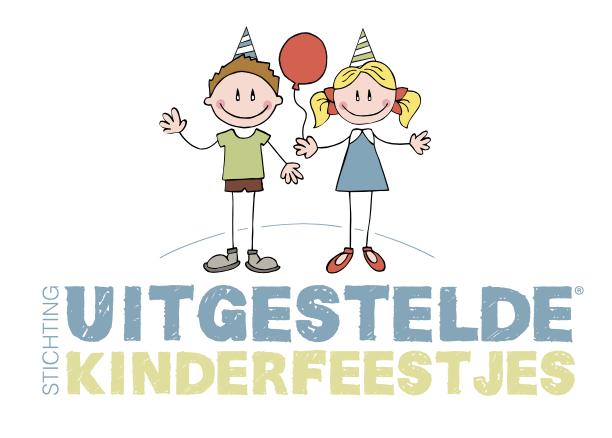 Logo uitgestelde kinderfeestjes verticaal